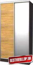 Шкаф-купе стандарт 15 ( Бамбук и зеркало) гл 450