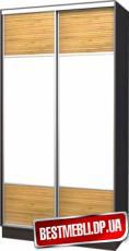 Шкаф-купе стандарт 17 ( Бамбук + Оракал) гл 600мм