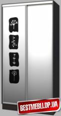 Шкаф-купе стандарт 7 (Пескоструй) гл 450